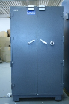 Used Large Mosler Class C Double Door 1 Hour Fire Safe